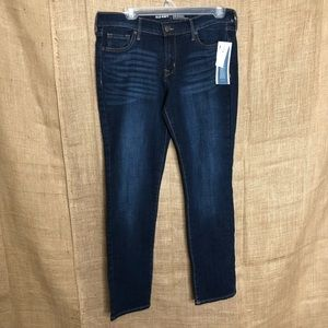 Old Navy Dark Wash Jeans 6 SHORT Mid Rise Straight